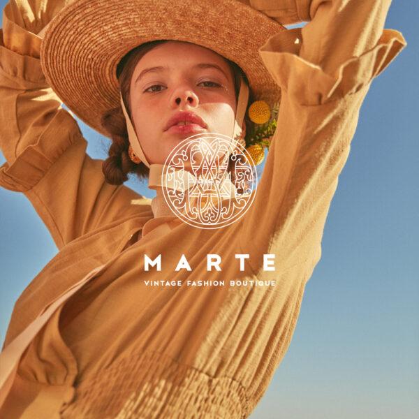 "MARTE 2019 SS "" MARTE RESORT "" シーズンロゴ & ルック"