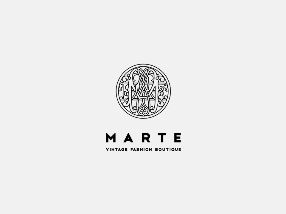 """Vintage Shop """"MARTE"""" Branding"""