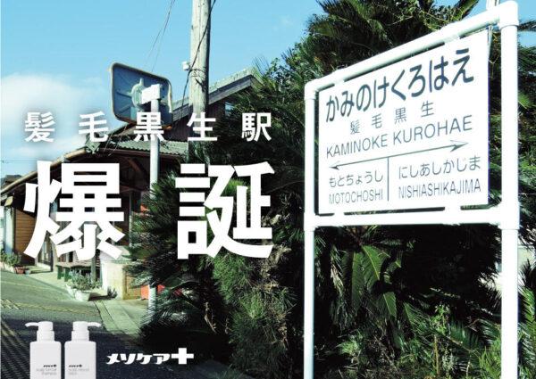 メソケアプラス「髪毛黒生駅」ケースフィルム