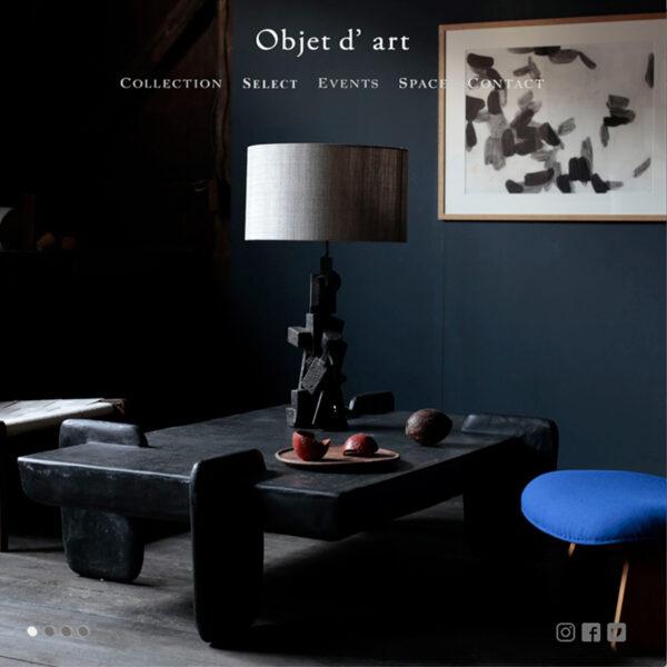 Objet d' art ブランドサイト